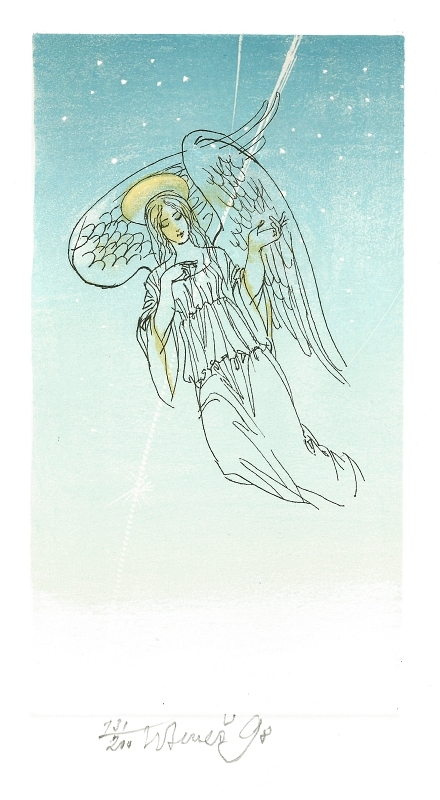 Beneš Karel - Anděl - Print