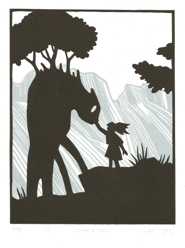 Bejdová Romana - Dívka a strom - Grafika