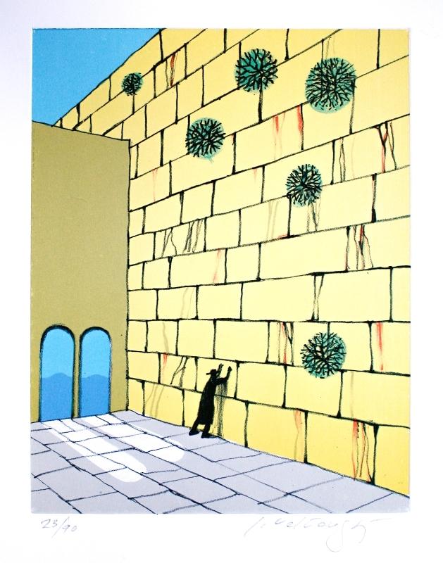 Velčovský Josef - Zeď nářků  - Print
