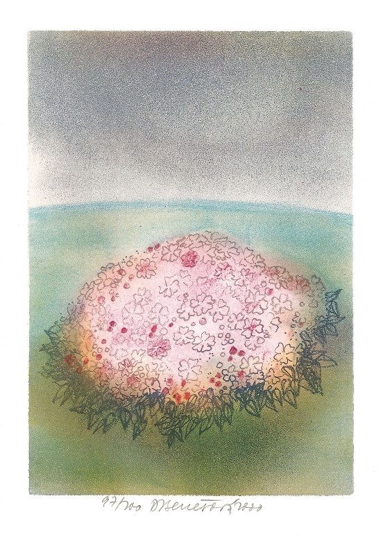 Benešová Daniela - Růžový keř  - Print
