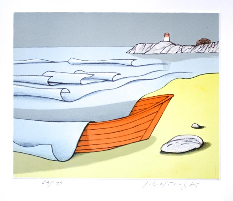 Velčovský Josef - Loď zaskočená přílivem  - Print