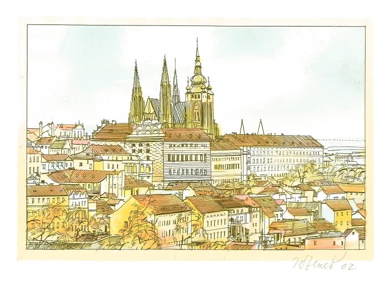 Beneš Karel - Pražský hrad  - Print