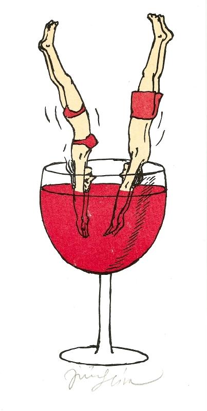 Slíva Jiří - Skok do vína  - Print