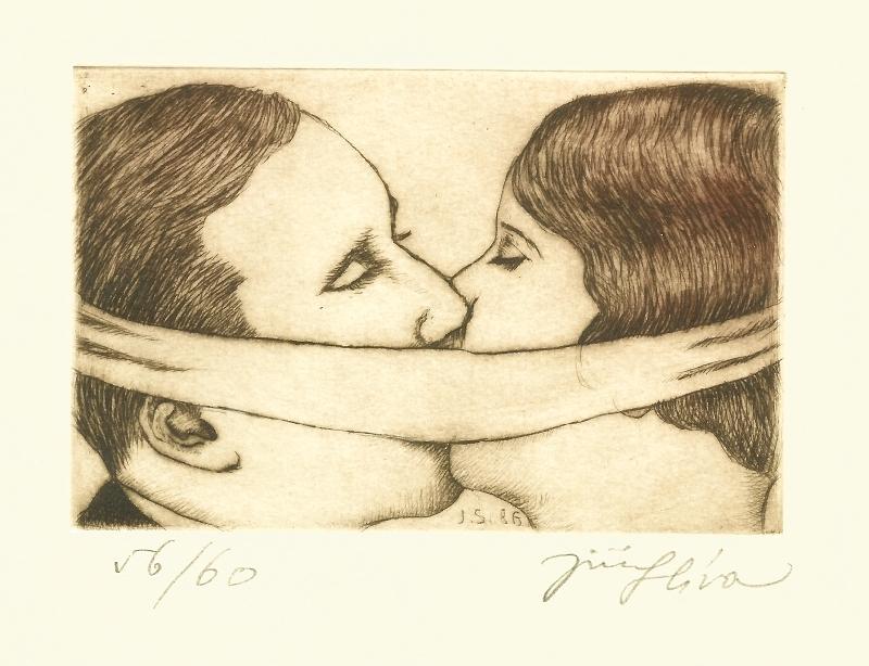 Slíva Jiří - Skrytý polibek  - Print