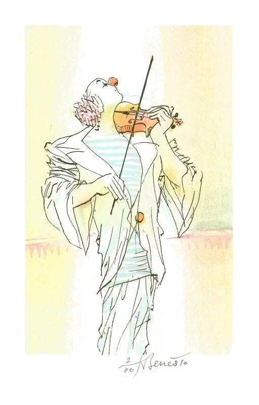 Beneš Karel - Klaun s housličkami  - Grafika