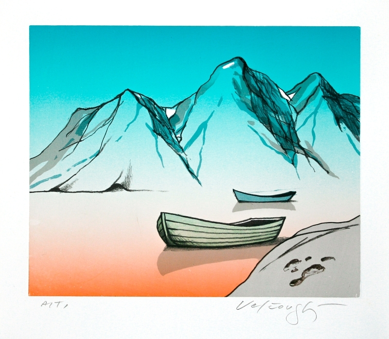 Velčovský Josef - Jezero, do kterého zapadlo sluníčko  - Print