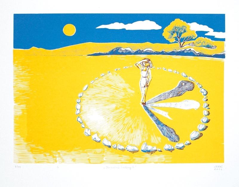 Bejdová Romana - Sluneční hodiny II  - Grafika