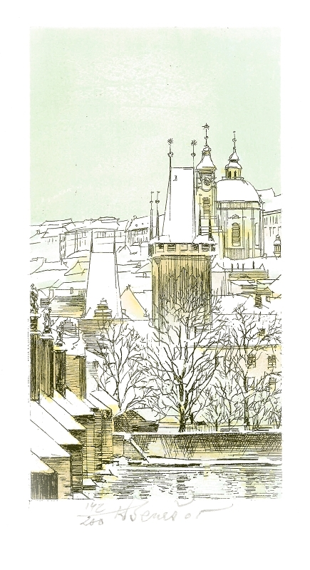 Beneš Karel - Praha – Malostranské věže  - Print