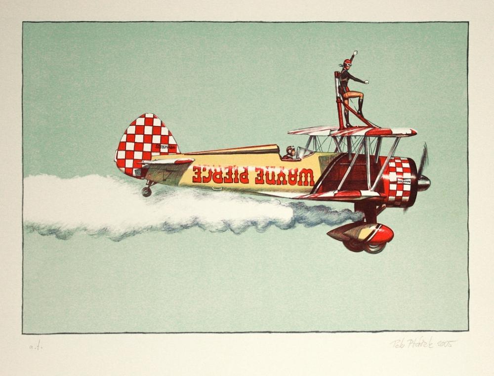 Ptáček Petr - Létající cirkus - Print