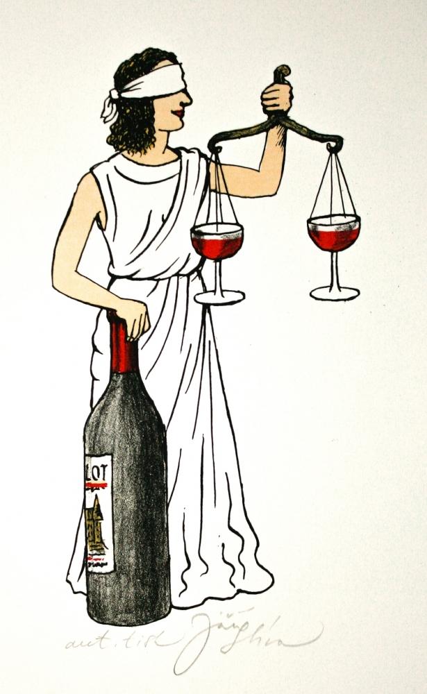 Slíva Jiří - Spravedlnost s vínem  - Grafika