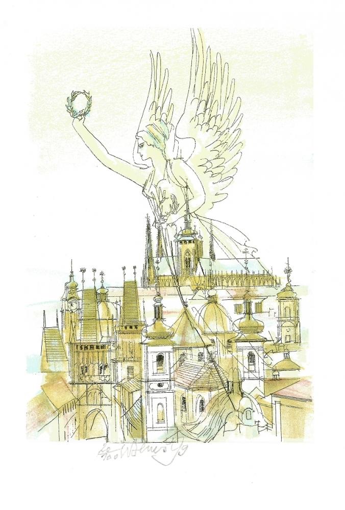 Beneš Karel - Nad Prahou  - Print