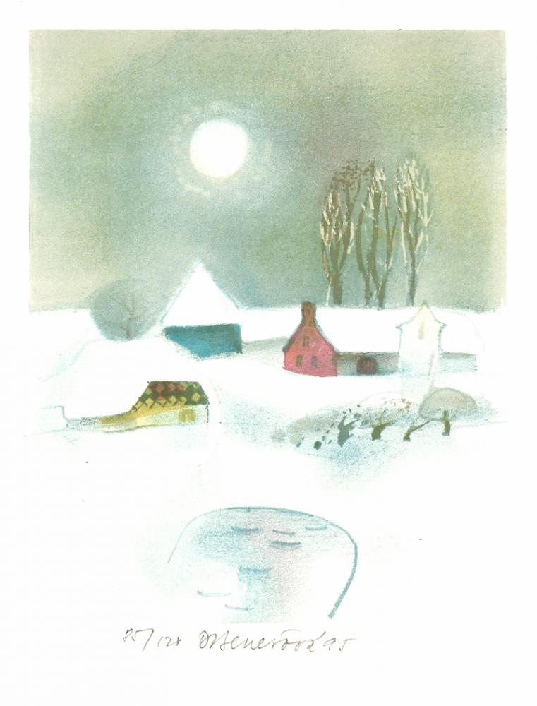 Benešová Daniela - Zima s rybníčkem  - Grafika