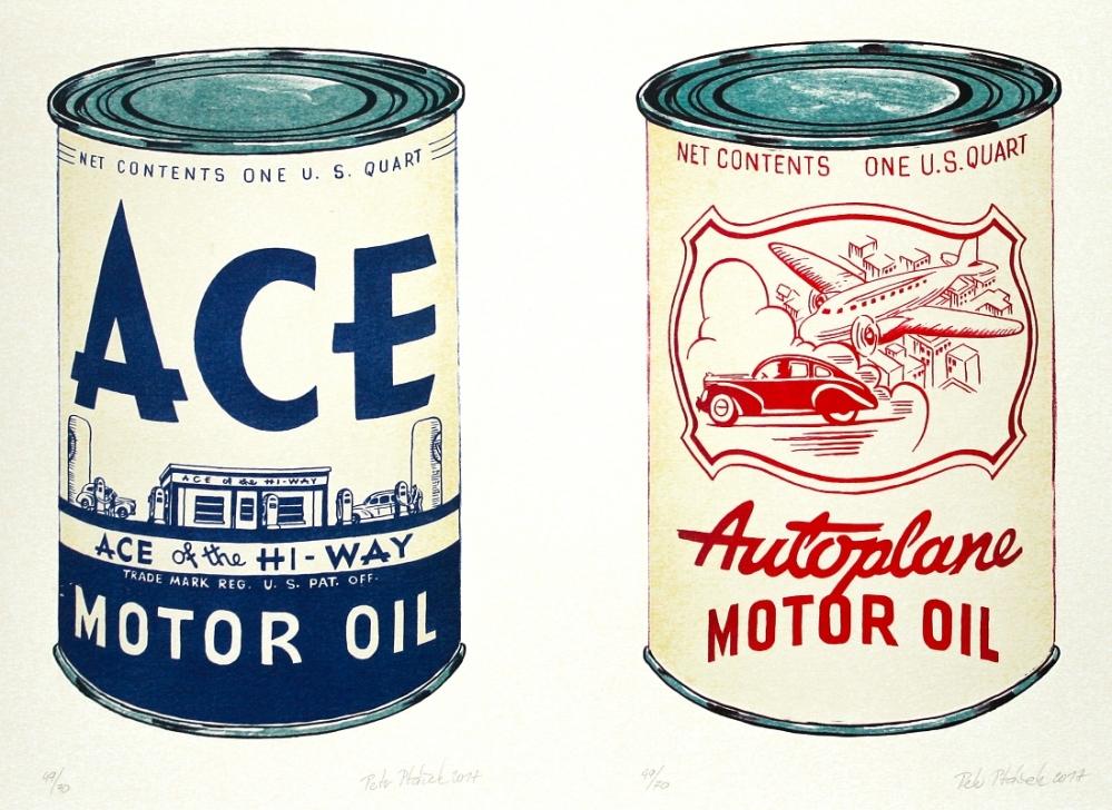Ptáček Petr - Motor Oil Ace a Autoplane  - Grafika