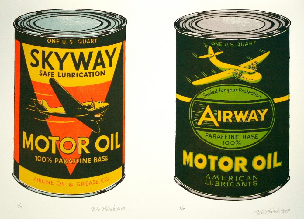 Ptáček Petr - Motor Oil Skyway a Airway  - Grafika