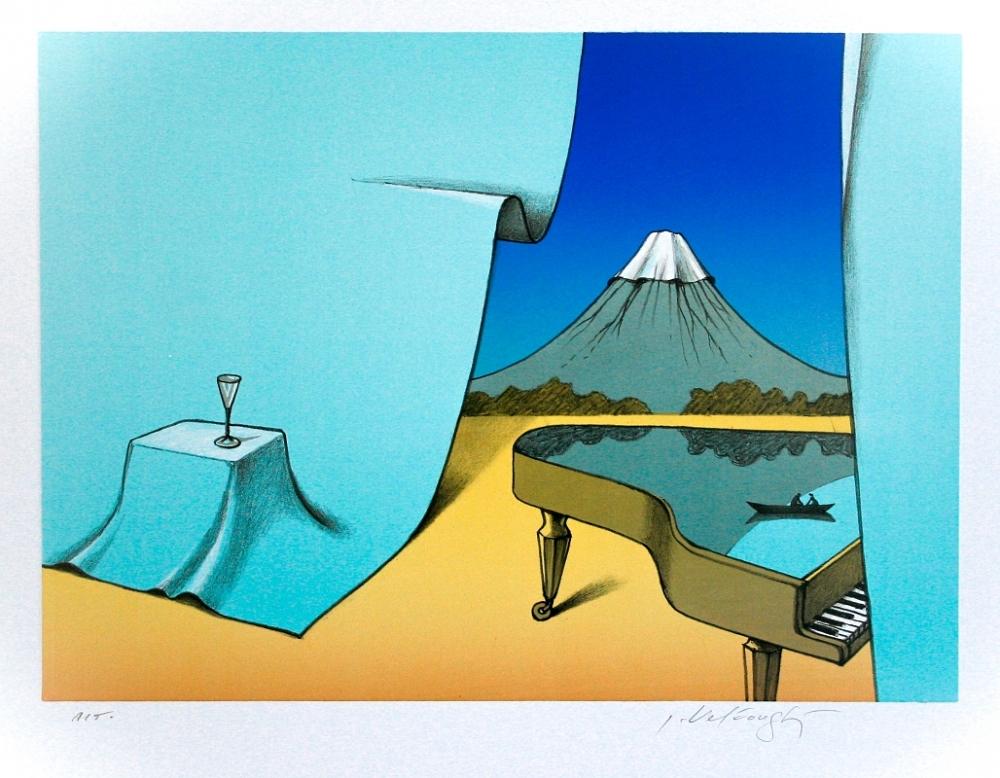 Velčovský Josef - Pianistův pokoj s výhledem na Fudži  - Grafika