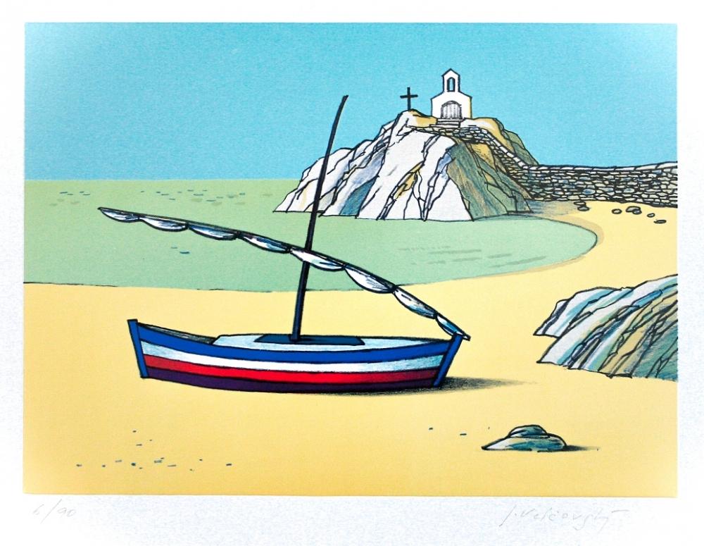 Velčovský Josef - Starý přístav v Provence  - Print