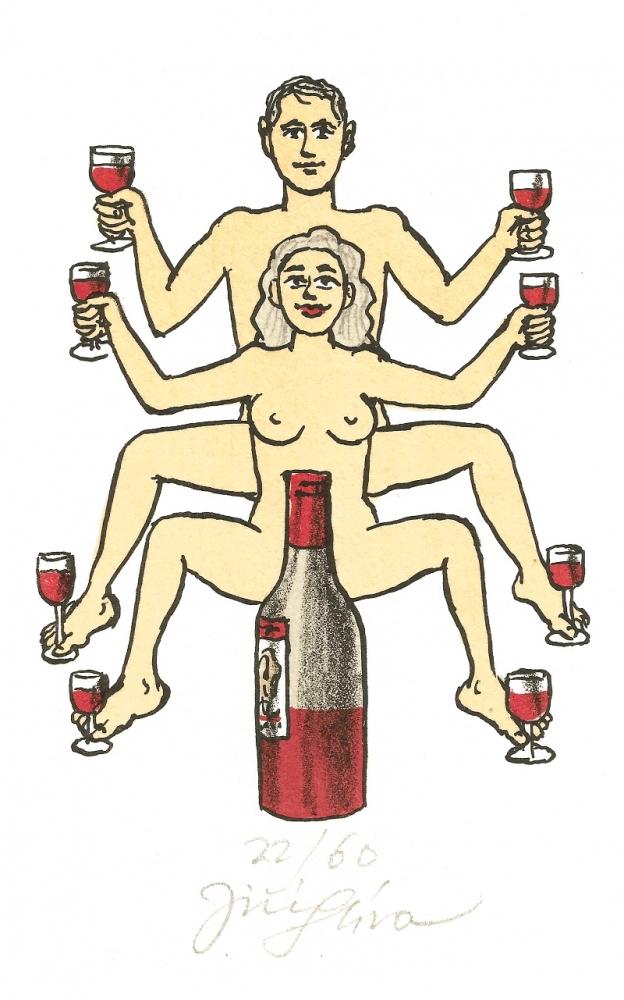 Slíva Jiří - Ruce nohy vína  - Print