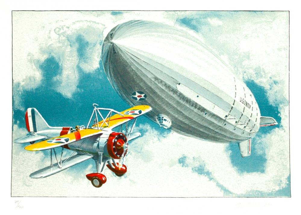 Ptáček Petr - USS Akron & Curtiss Sparrohawk  - Grafika