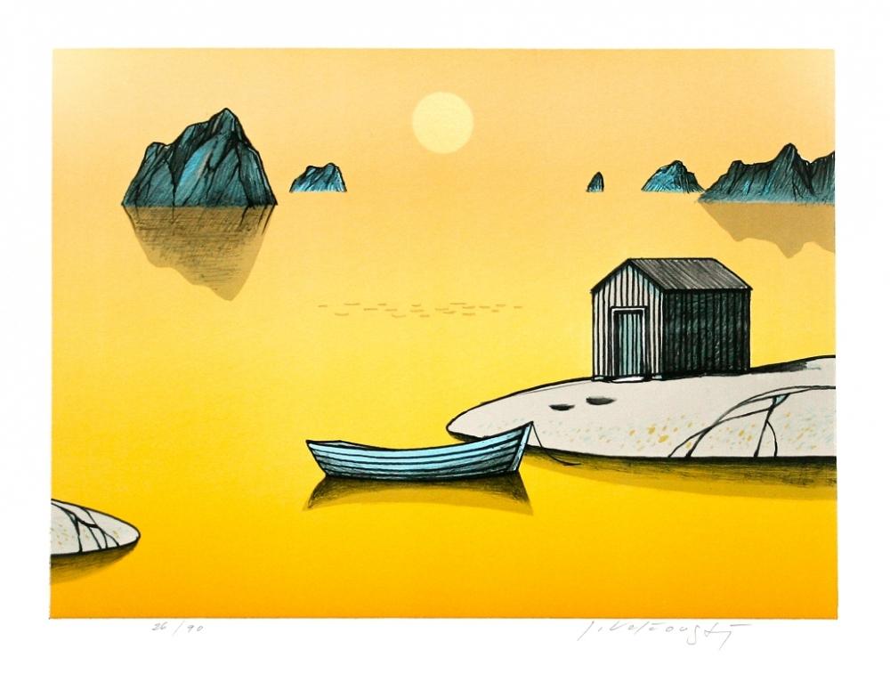 Velčovský Josef - Půlnoční slunce na Lofotských ostrovech  - Grafika