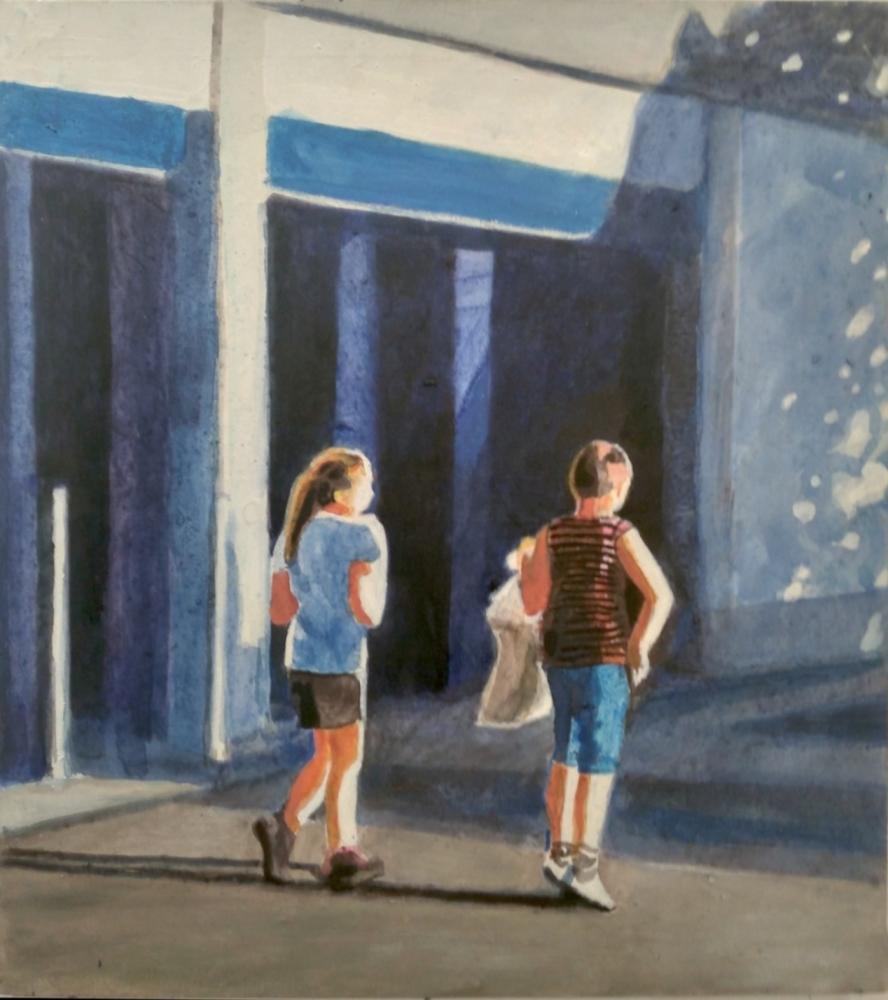 Lorenz Petr - Cestou z nákupu - Malba