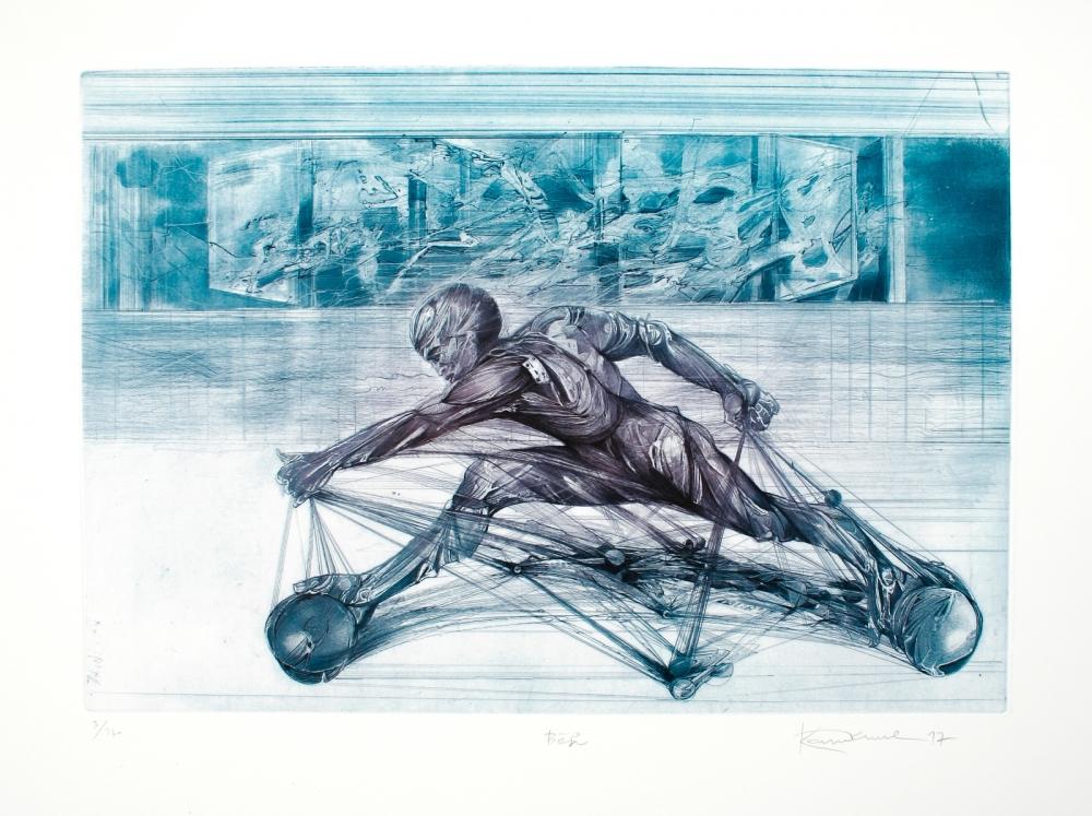 Demel Karel - Běh - Grafika